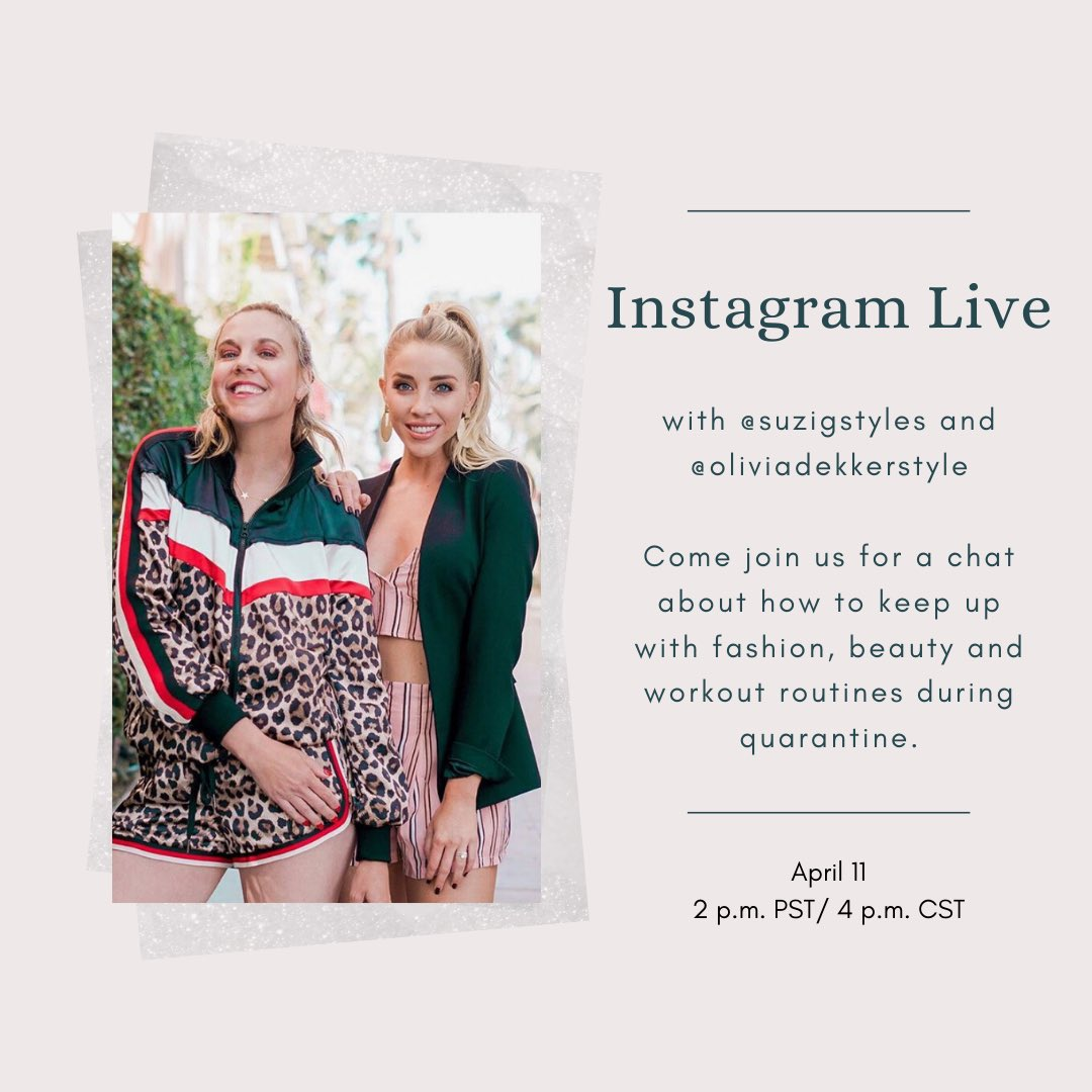 Join us at 2pm pacific for a fun IG live!!! https://t.co/V7c2VOdat2
