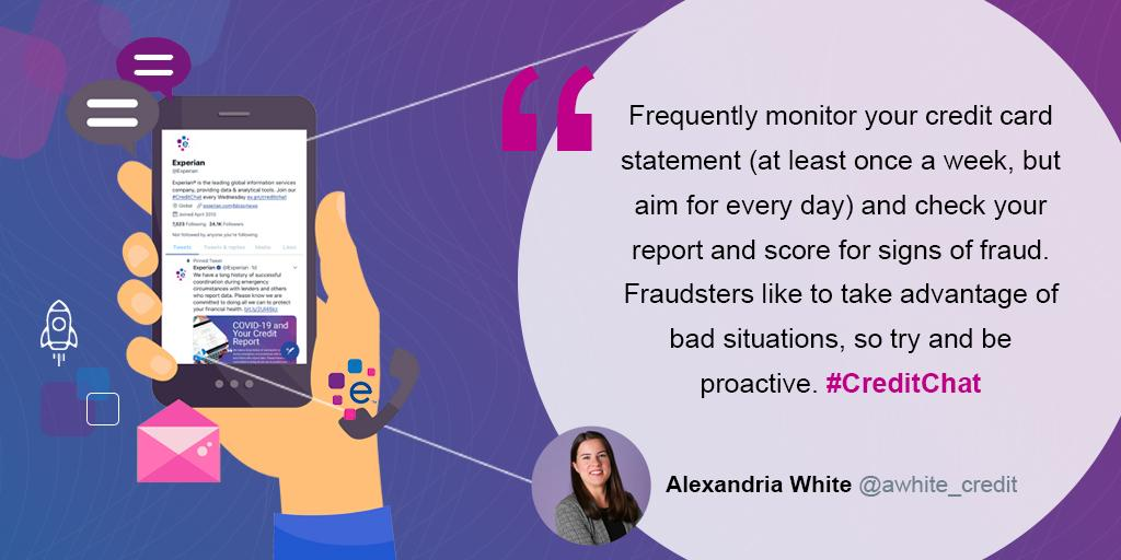 Experian Staysafe On Twitter Frequently Monitor Your Credit Card Statement At Least Once A Week But Aim For Every Day And Check Your Report And Score For Signs Of Fraud Fraudsters Like