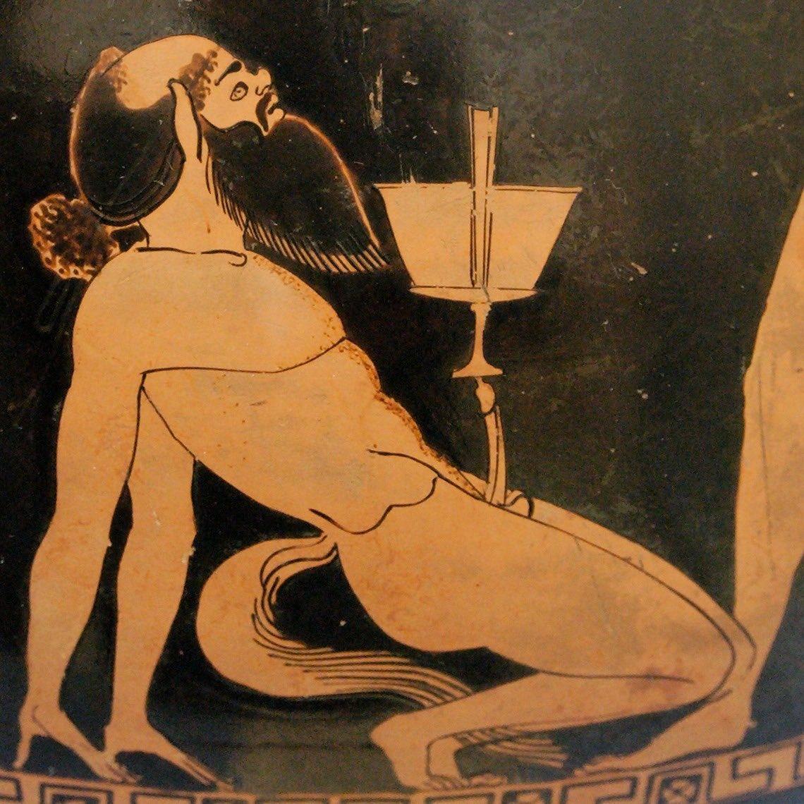 #artegayacasa Sileno ubriaco, dettaglio vaso greco psykter, 500-490 a.C., Douris, arte antica greca #Douris #anticaGrecia #Sileno #arte #ceramica #artegay #omoerotismo #omoerotico #gay @arteomogay @omoerotico  campagna social ArteGayaCasa promossa da @gayshoppic.twitter.com/gLBElTvEgZ