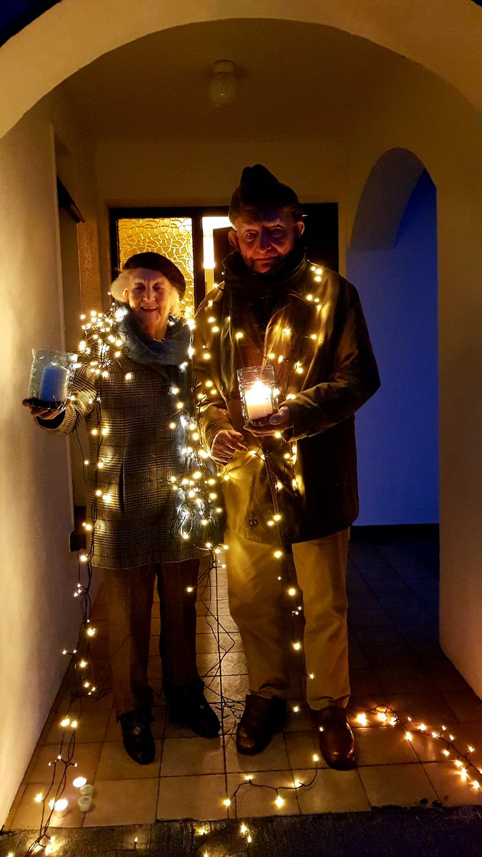 Eileen (98) and Ned (101) Gortnahalla,  Moycullen, shining their lights to  create a moment of solidarity in the battle against theCovid-19 pandemic  #ShineYourLight https://t.co/vHJ7NlDl28