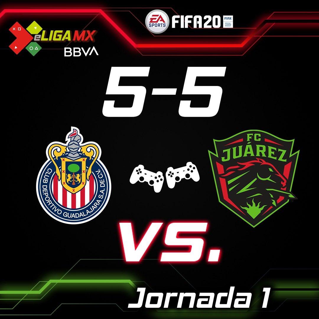 @Chivas  dirigido por el #TeamDieter y @fcjuarezoficial comandándo por #TeamRolan  dieron un verdadero espectáculo al empatar a 5 goles en la #eLIGAMX   #TuCasaTuCancha https://t.co/N0DKk2i7Lw