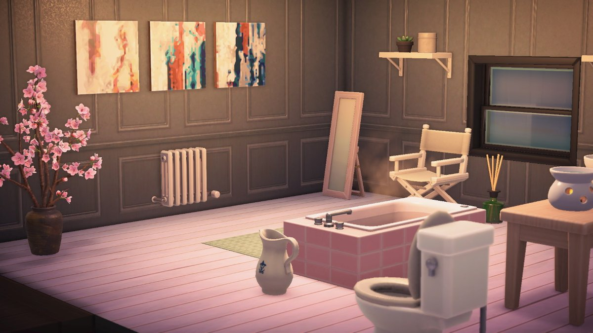 Shannon در توییتر So Far My Acnh Bathroom Is My Fave Room Bedroom Is Close Second Can T Wait To Get More Things On My Wish List And Decorate All The Things Https T Co Idl8jke1de