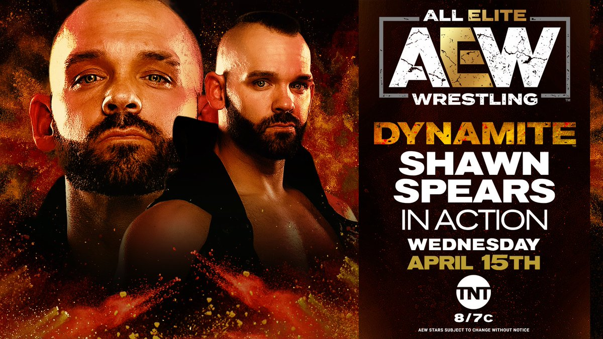 AEW Announces Shawn Spears Will Be In Action This Wednesday