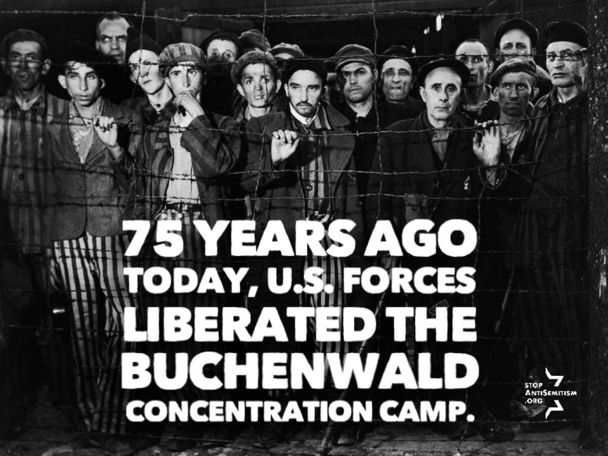 75 years ago today. 56,545 murdered. 280,000 saved. #NeverForget #Buchenwald