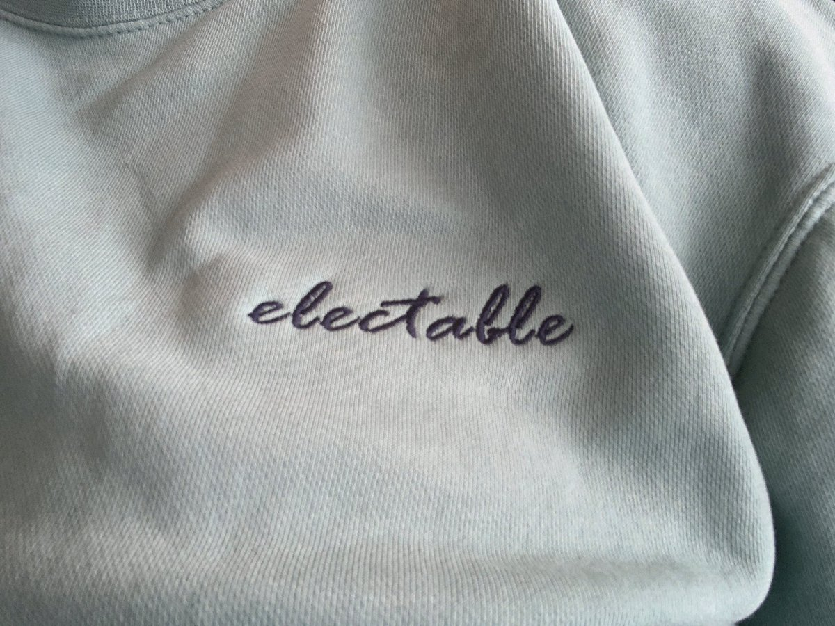Wearing my new #Electable shirt to coordinate PPE.  Thank to @meenaharris who is a #PhenomenalWomen manufacturing beautifully soft materials that fund social responsibility. <br>http://pic.twitter.com/U3KOhv8zlh