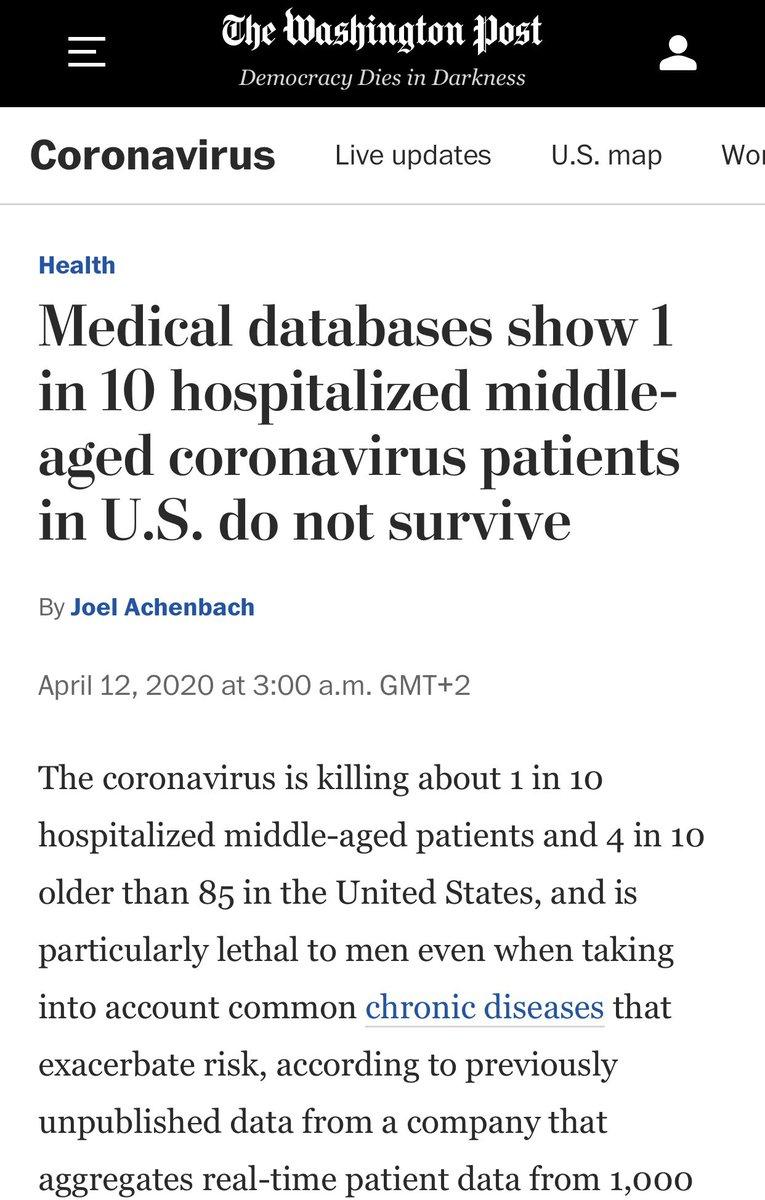 Mortality in hospitalized patients in US: 10%. Kidney disease is a marker.