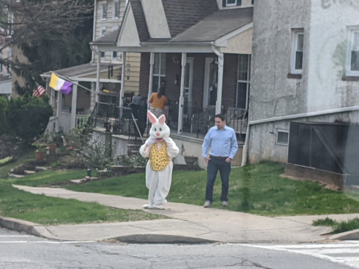 @NBCPhiladelphia Why another surge? We heard the Easter Bunny is dropping off PPE today.