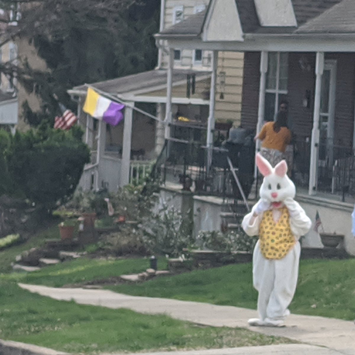 The Easter Bunny was out doing his job in Conshohocken yesterday. Happy Easter
