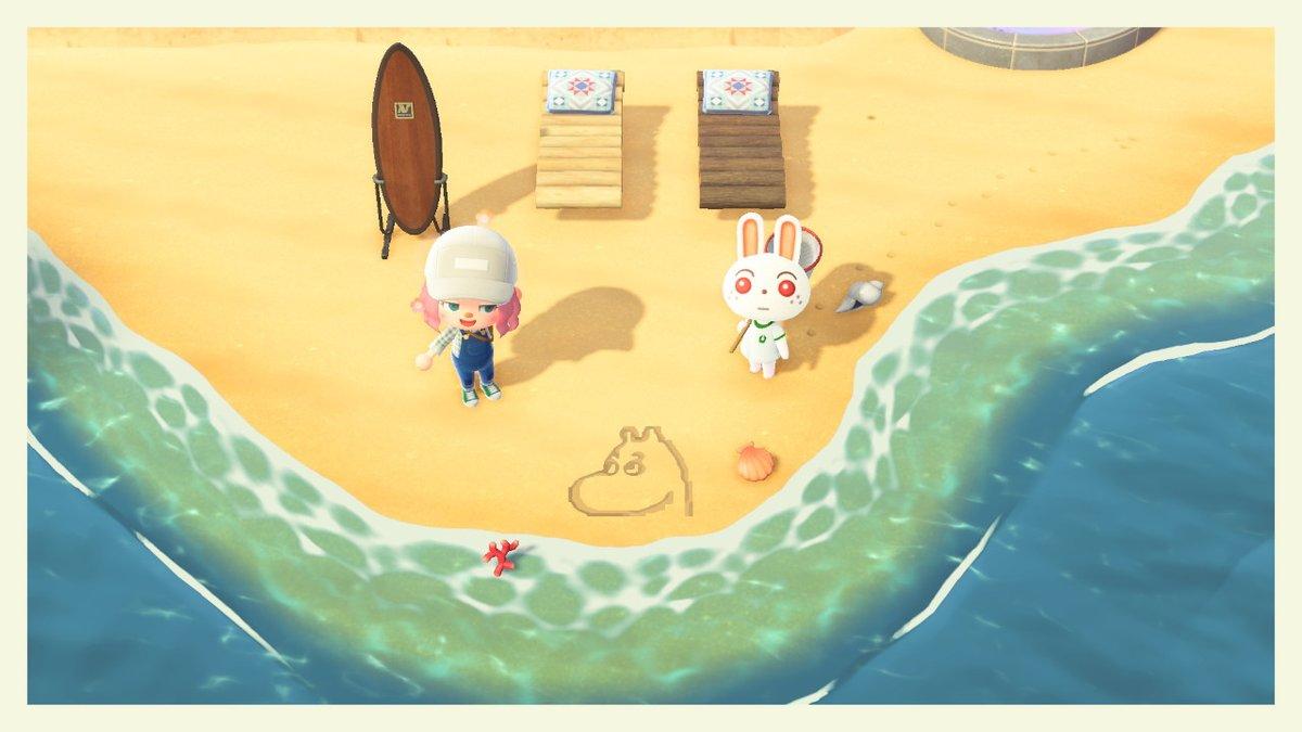 あつ森 砂浜 水