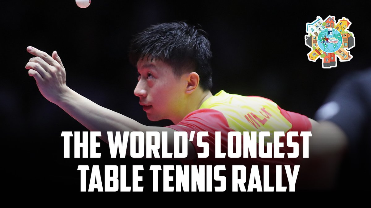 YOU MADE THIS POSSIBLE   We can't gather physically for 2020 #WorldTableTennisDay this year, BUT we joined forces to make the WORLD'S LONGEST TABLE TENNIS RALLY   Happy World Table Tennis Day   #UltimateWTTD #6April #StayHomeWithTT #TableTennis @ITTFFoundationpic.twitter.com/AQowftr2CW