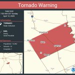 Image for the Tweet beginning: Tornado Warning including Teague TX,