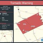 Image for the Tweet beginning: Tornado Warning including Teague TX,