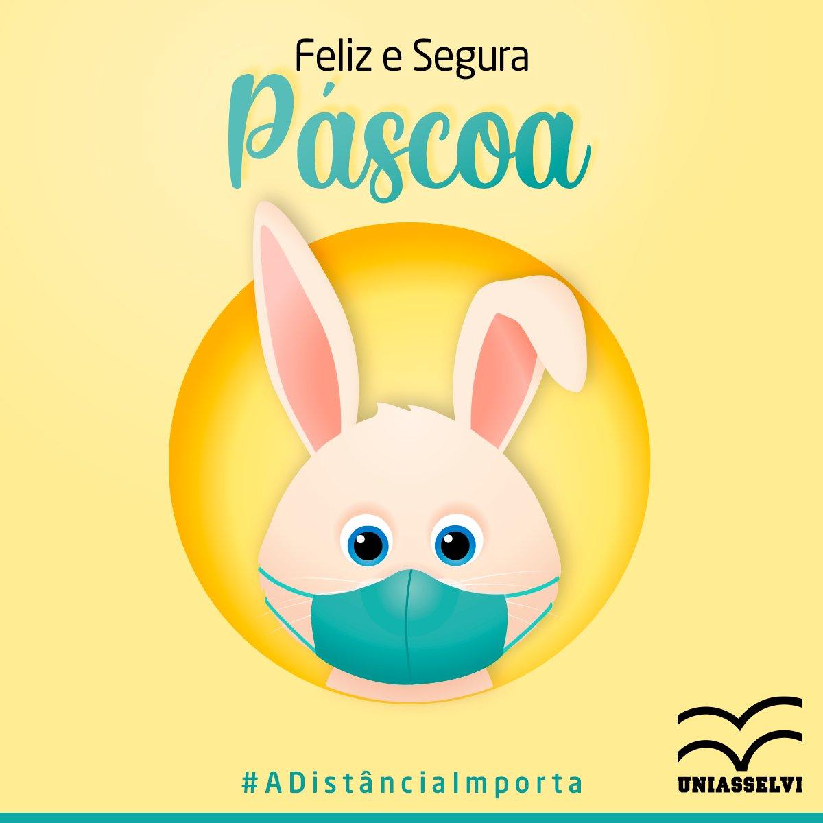 Que nossos corações, mesmo distantes, estejam unidos. Feliz Páscoa!  #Páscoa #chocolates #FelizPáscoa #coelho #PáscoaEmCasa https://t.co/C3cdUMUuOA