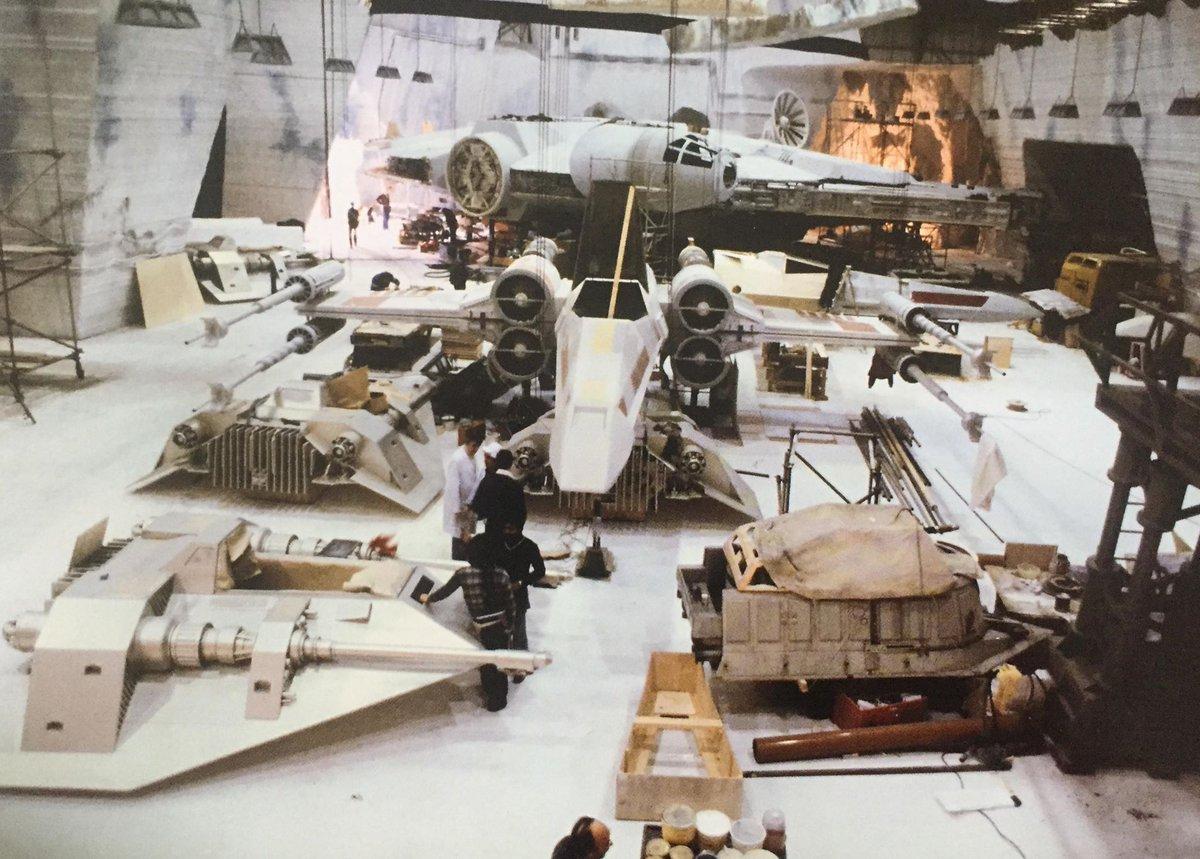 Yıldız Savaşları Bölüm V İmparatorun Dönüşü film seti, 1980