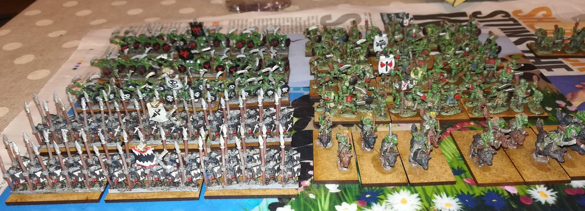 The #greenhorde assembling! Progress to date on the #Warmaster project. https://t.co/7FQFzvC22s