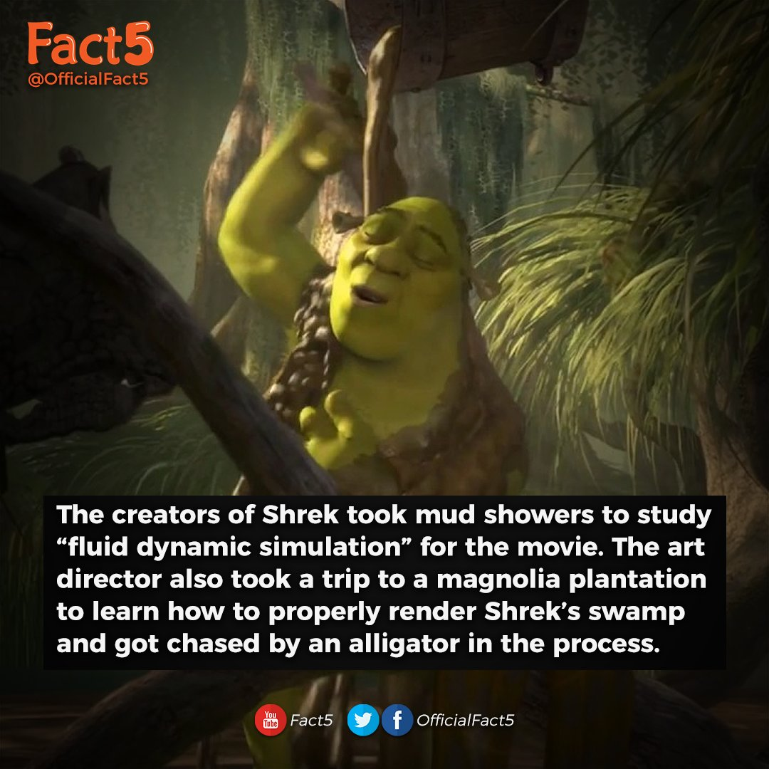 Fact5 On Twitter You Ve Got To Applaud Their Dedication Factoftheday Facts Funfacts Shrek Movie Alligator Swamp