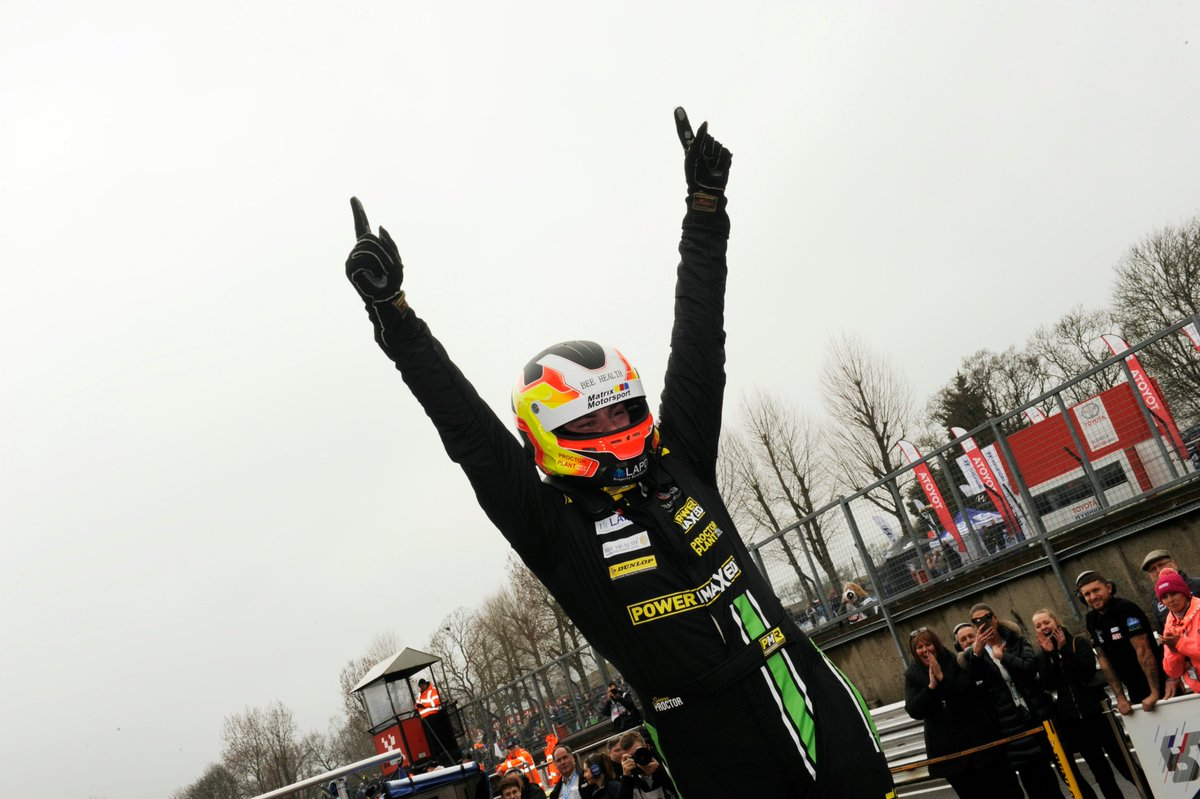 From 27th on the grid to the top step of the podium...  Proctor takes the win!  #RaceDayWithADifference #BTCC https://t.co/lGFZyB3uEg