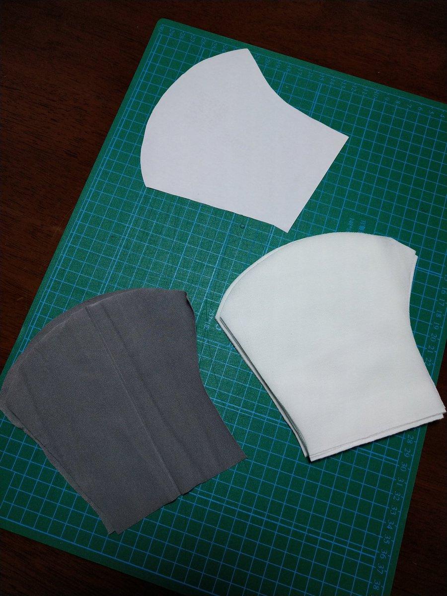 マスク 型紙 スマイル