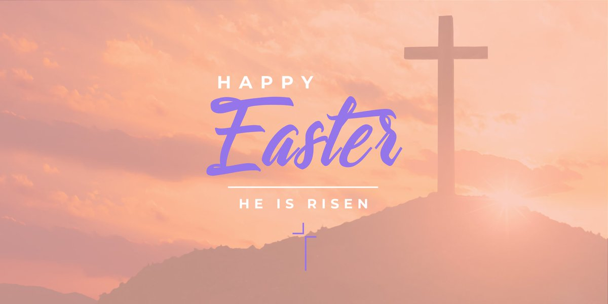 """He is not here; he has risen, just as he said. Come and see the place where he lay.""  Matthew 28:6  Wishing everyone a beautiful #EasterSunday, as even in difficult times we celebrate the hope we have through Christ's resurrection."