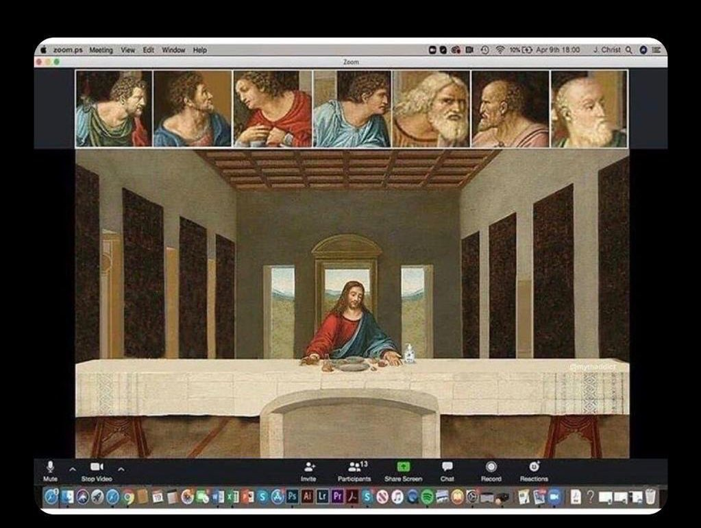 "Andrew Yang🧢🇺🇸 on Twitter: ""Zoom the Last Supper. 😀#HappyEaster… """