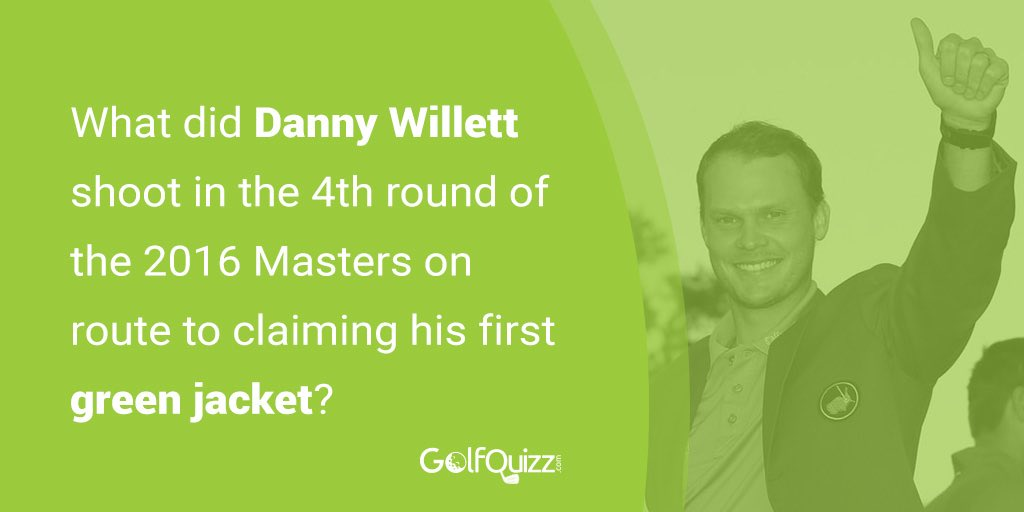 Question time 👀 @GolfQuizz Can YOU answer this @TheMasters Sunday question? We're pretty sure @Danny_Willett will remember every shot! ⛳️ #golfquizz #sports #knowledge #questions #history #masters