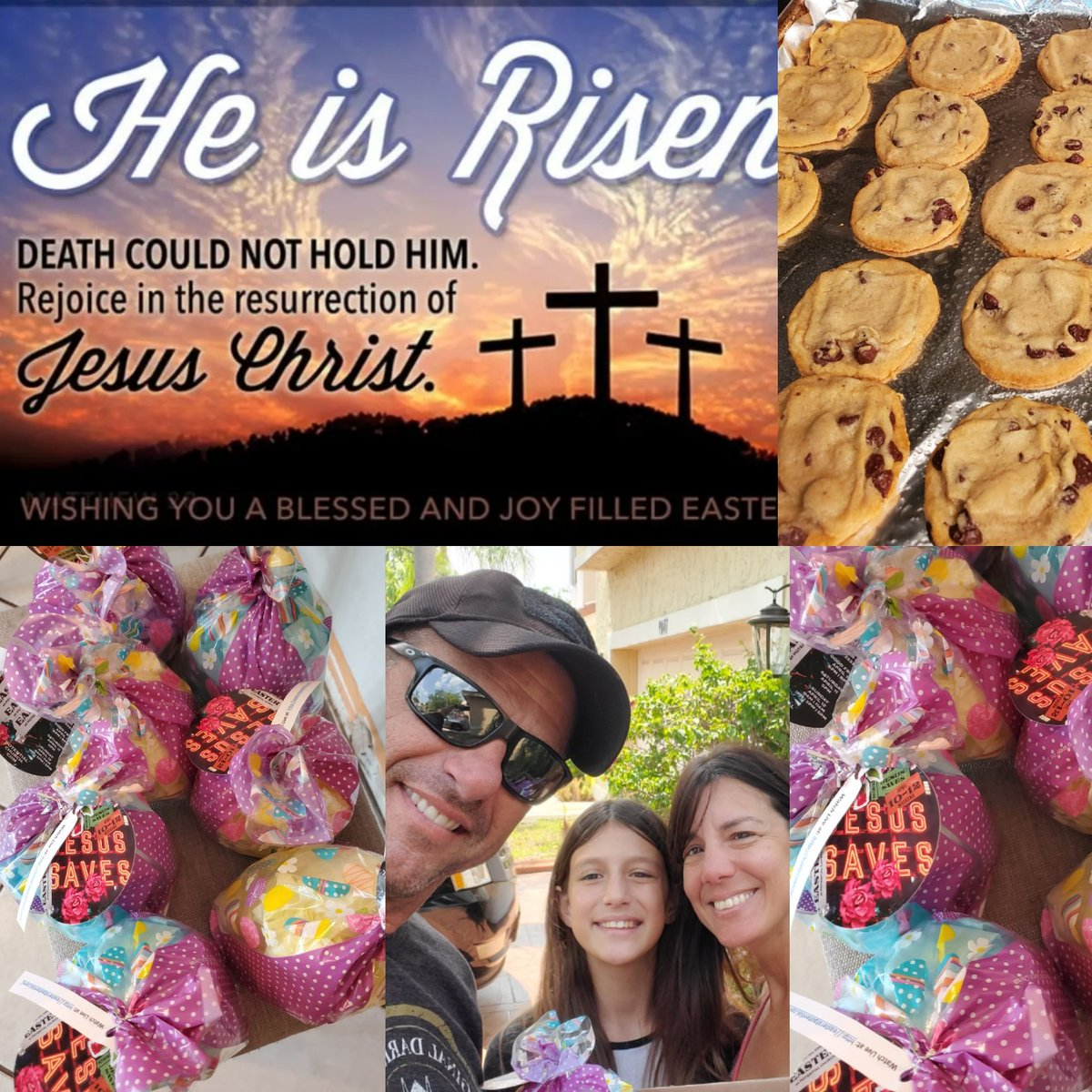 Shifting from WORRY to WORSHIP! Baked cookies for my neighbors w/ link to EasterLive @potentialchurch He's the peace that passes all understanding, the giver of every good&perfect gift, we can trust Him & he carries the weight of our worries & knows our today & tomorrow John3:17