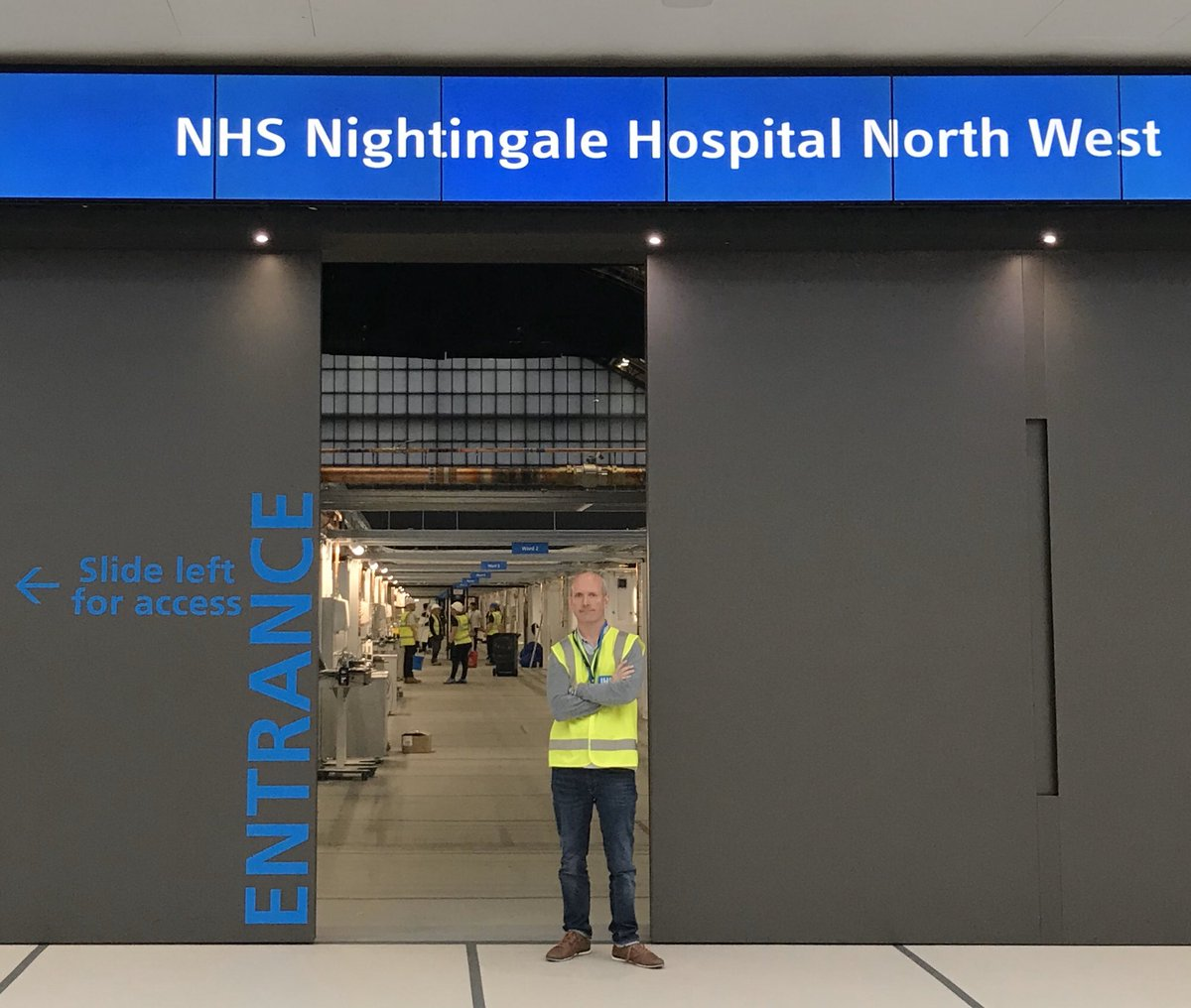 Just got home. The NHS Nightingale Hospital Northwest is complete. The most remarkable and astonishing achievement from all involved. #ClapForTheNHS #ClapForTheConstructionIndustry