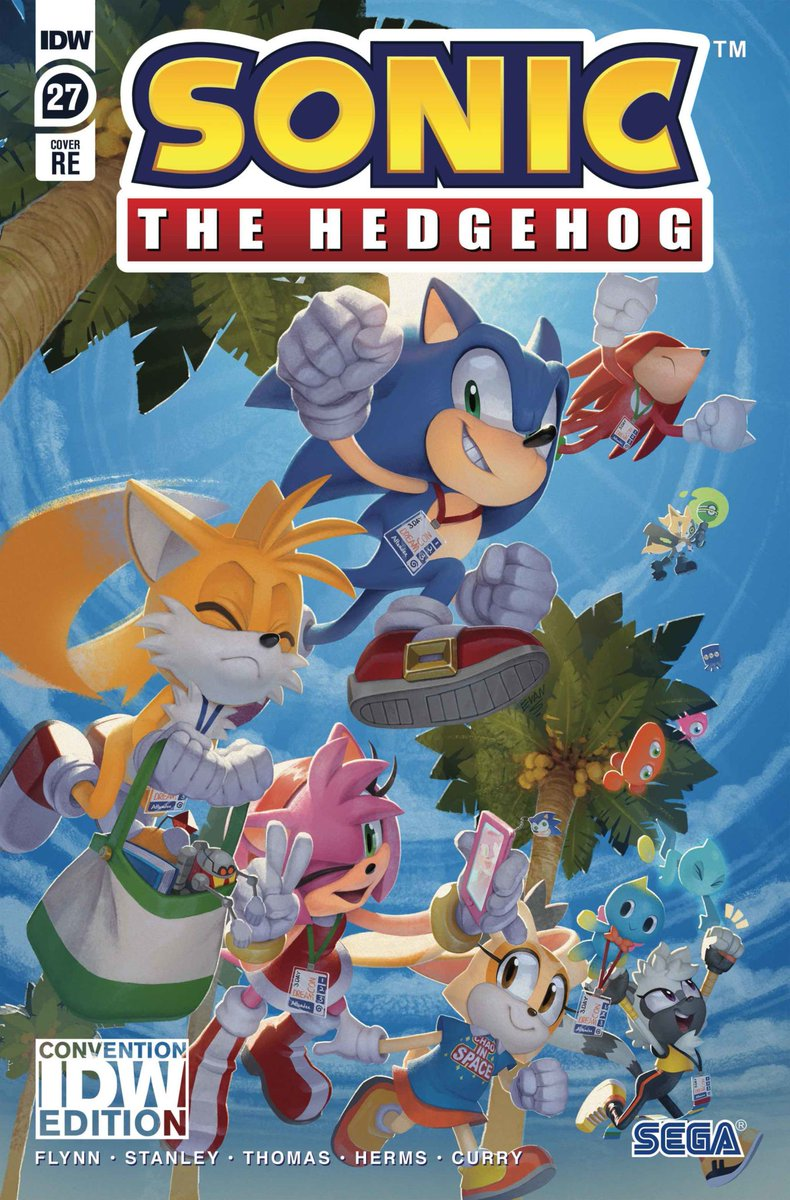 Idw Publishing On Twitter Sonic The Hedgehog Series Artist Spiritsonic Brings You This Special Convention Exclusive Cover Of Sonic The Hedgehog 27 Featuring Sonic And Friends Living Their Best Convention Life Go