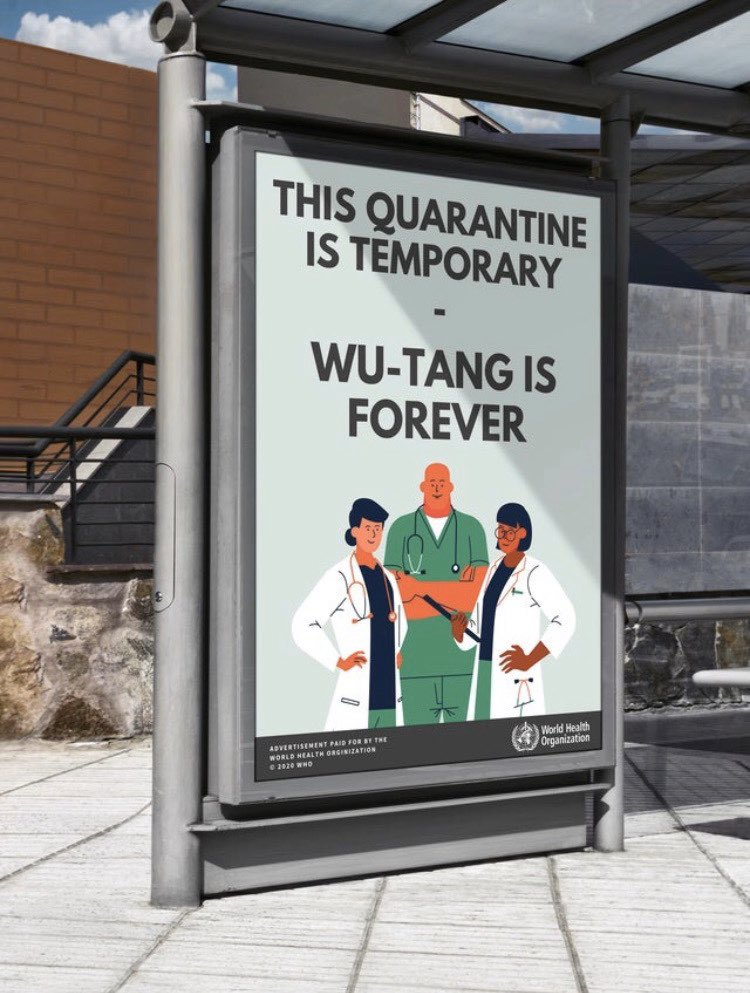 Stay home. #wutang is forever. #quarantine #firstresponders #positivevibes #who https://t.co/7s1pWrufRQ