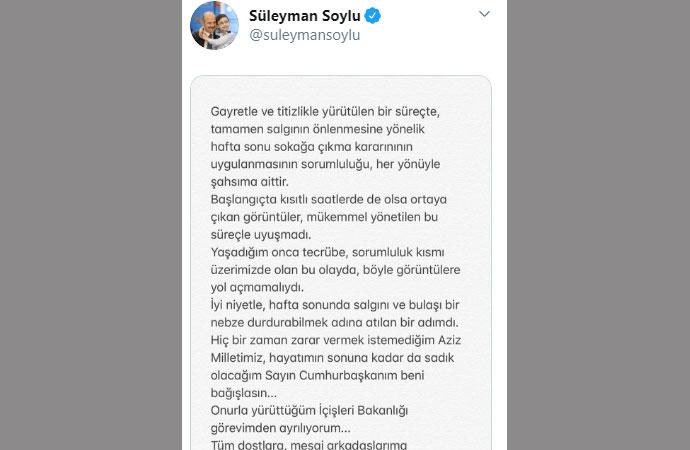 """Tele1 TV - #Tele1Susturulamaz on Twitter: """"Flaş... Flaş.. Flaş... İçişleri  Bakanı Süleyman Soylu istifa etti. https://t.co/ZdnauDaINS… """""""