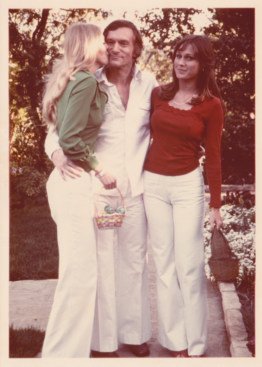 Hugh M Hefner On Twitter 1977 Hef With Hope Olsen And Patti Mcguire On Easter Day Her first skateboard was built by her brother in wood shop from her own shoe skate as a surprise. hugh m hefner on twitter 1977 hef