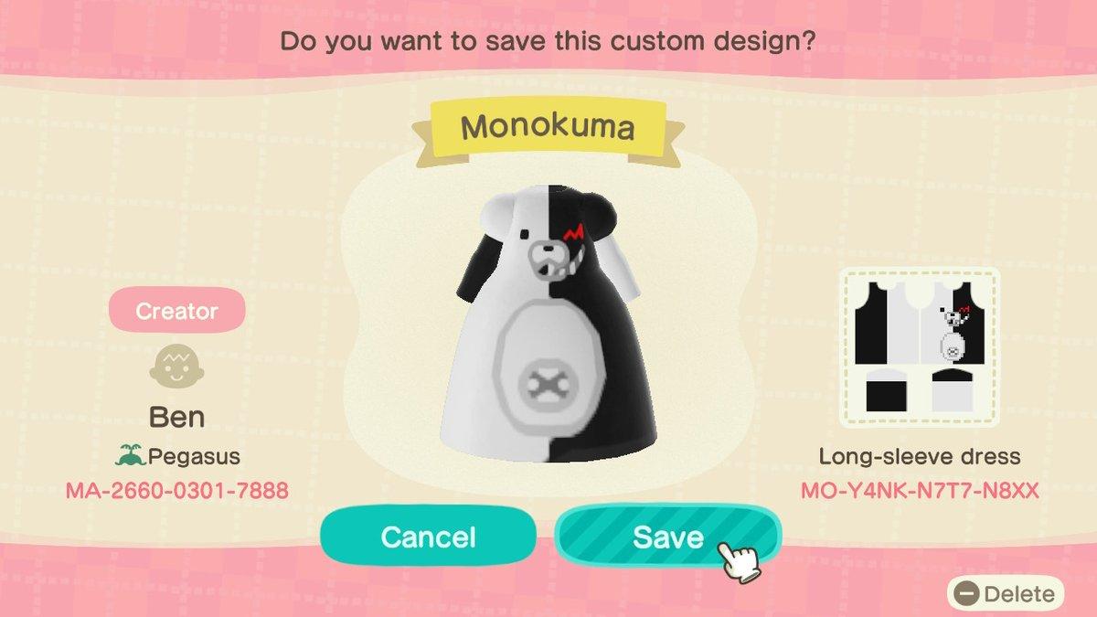 Private custom Monokuma dress