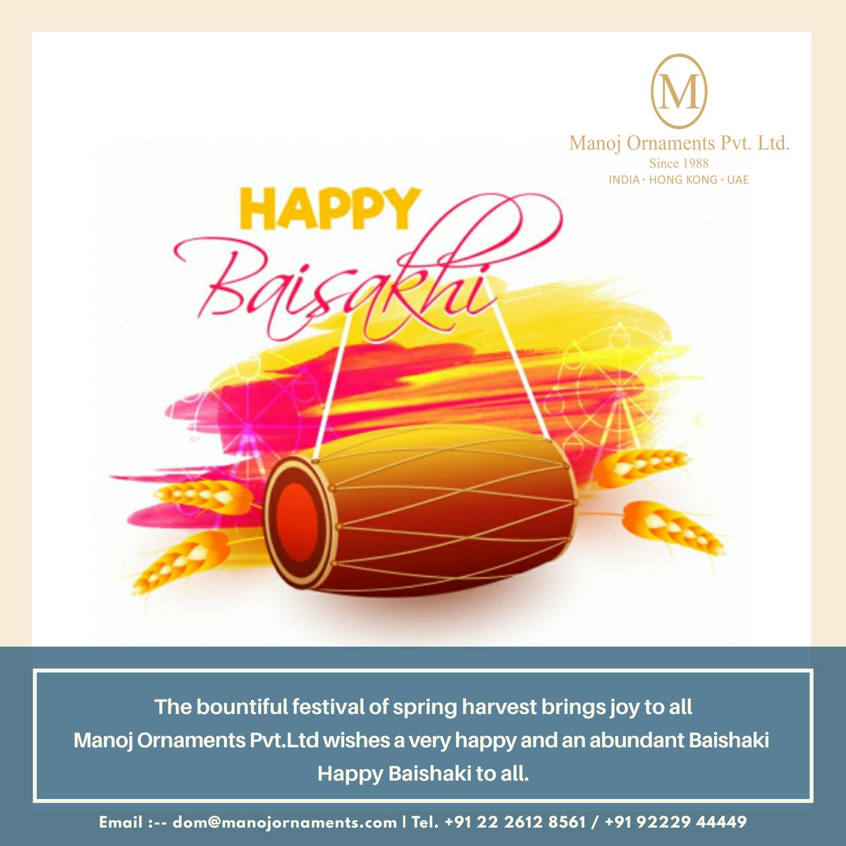 Manoj Ornaments Pvt Ltd  #Mumbai   #Hongkong   #Dubai    #Baisakhi #HappyBaisakhi #ManojOrnamentsPvtLtd #indianjewellery #indianjewelleryusa #indianbridaljewellery #modernjewellerydesign #contemproryjewellery #handmadejewelrydesigner #jewelleryaddict #indianfestival