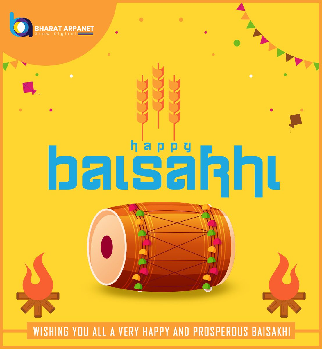 May this new harvesting season bring a lot of happiness and good health for all of you! We will definitely overcome this adverse situation soon. #HappyBaisakhi  #BharatArpanet #HappyBaisakhi2020 https://t.co/HNQR014r5n