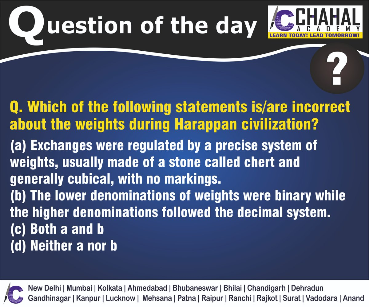 Question of the Day  Answer - D  #13thApril2020 #Questionoftheday #UPSC2020 #IPS #IBPS #governmentexam #Currentaffairs #iasquestion #UPSCQuestion2020 #dailyquiz #coachinginstitute #iascoachingcenter #IASquestions #civilserviceexam  Visit:- http://chahalacademy.compic.twitter.com/AvWrX88L72