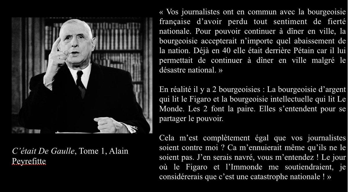 """Monsieur_Frexit 🇫🇷 on Twitter: """"La bourgeoisie les les journalistes selon  le Grand Charles ⤵️… """""""