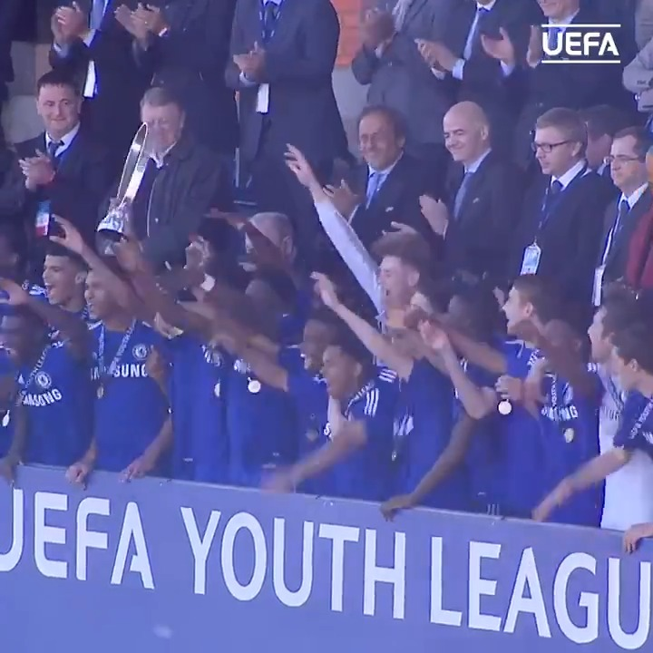 ⏪ On this day in 2015  A @ChelseaFC team with some future @ChampionsLeague and @EuropaLeague stars beat @FCShakhtar_eng 3-2 to win the #UYL 🏆🙌🙌🙌🙌 https://t.co/EVvZh0x5IX