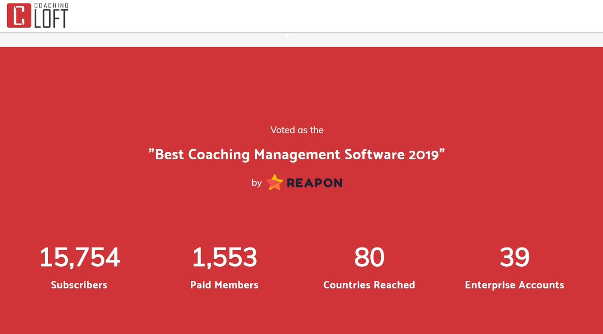 Clearly we couldn't have done it without the +15,000 Coaches who subscribe and advocate https://t.co/svJWdom2gw in 80 countries around the globe. Thank You. https://t.co/8A48hLZIlv