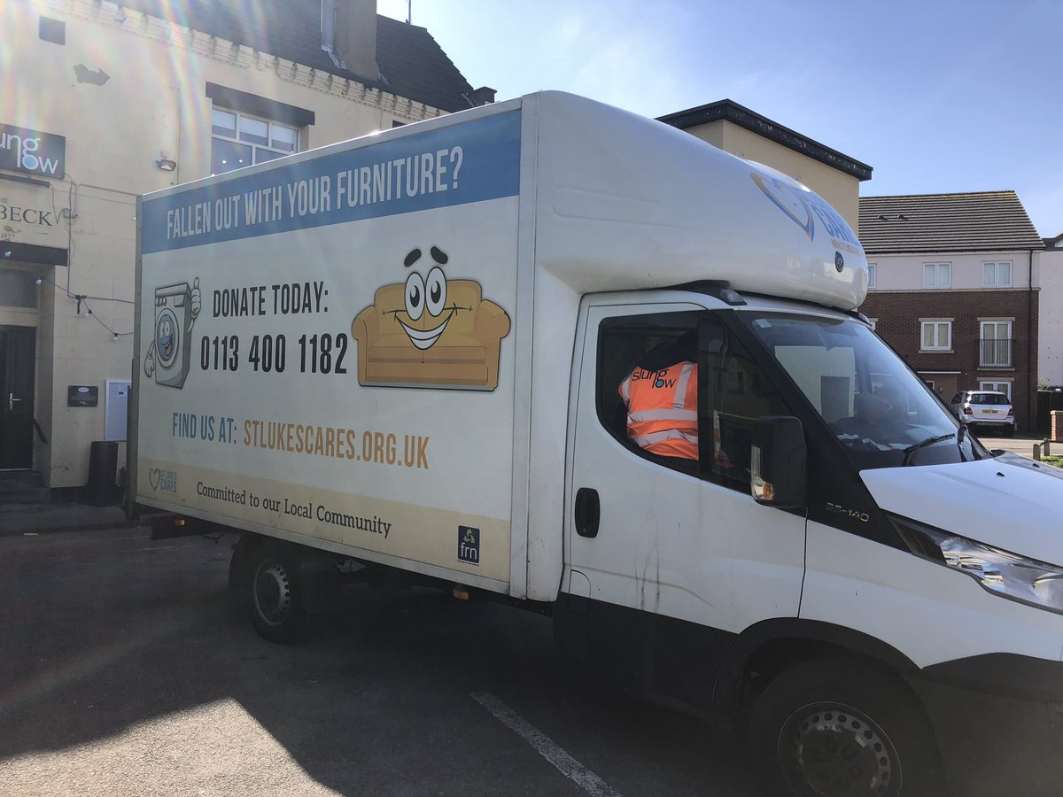 Last week's Coronavirus Holbeck Hero is the mighty @kate_alty and the @StLukesCARES team for the loan of their Luton van to help us shift food in and out next few weeks. Generous, kind and helpful. Our kind of people! Party at our place when this is all done!