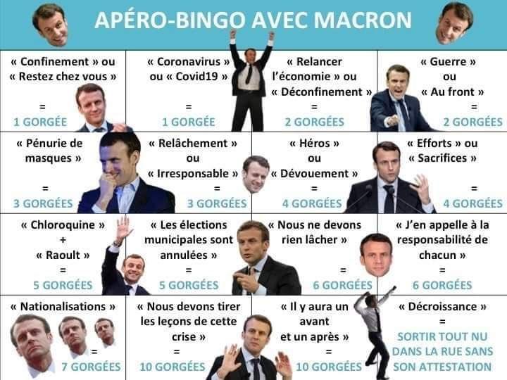 Apéro-bingo avec Macron