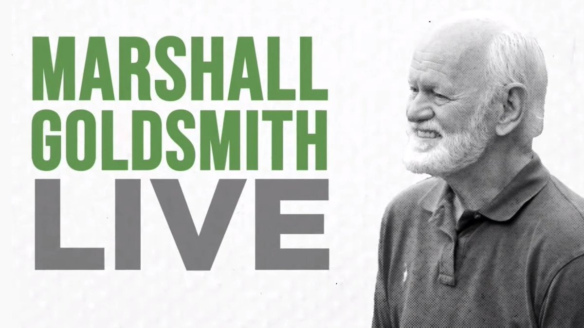 "Watch Marshal Goldsmith's Video on ""How to be Present & Live in the moment"". Especially in these challenging times, this perhaps is a good topic to discuss. https://t.co/DOSuwHqPmq https://t.co/YZAFV16oI6"