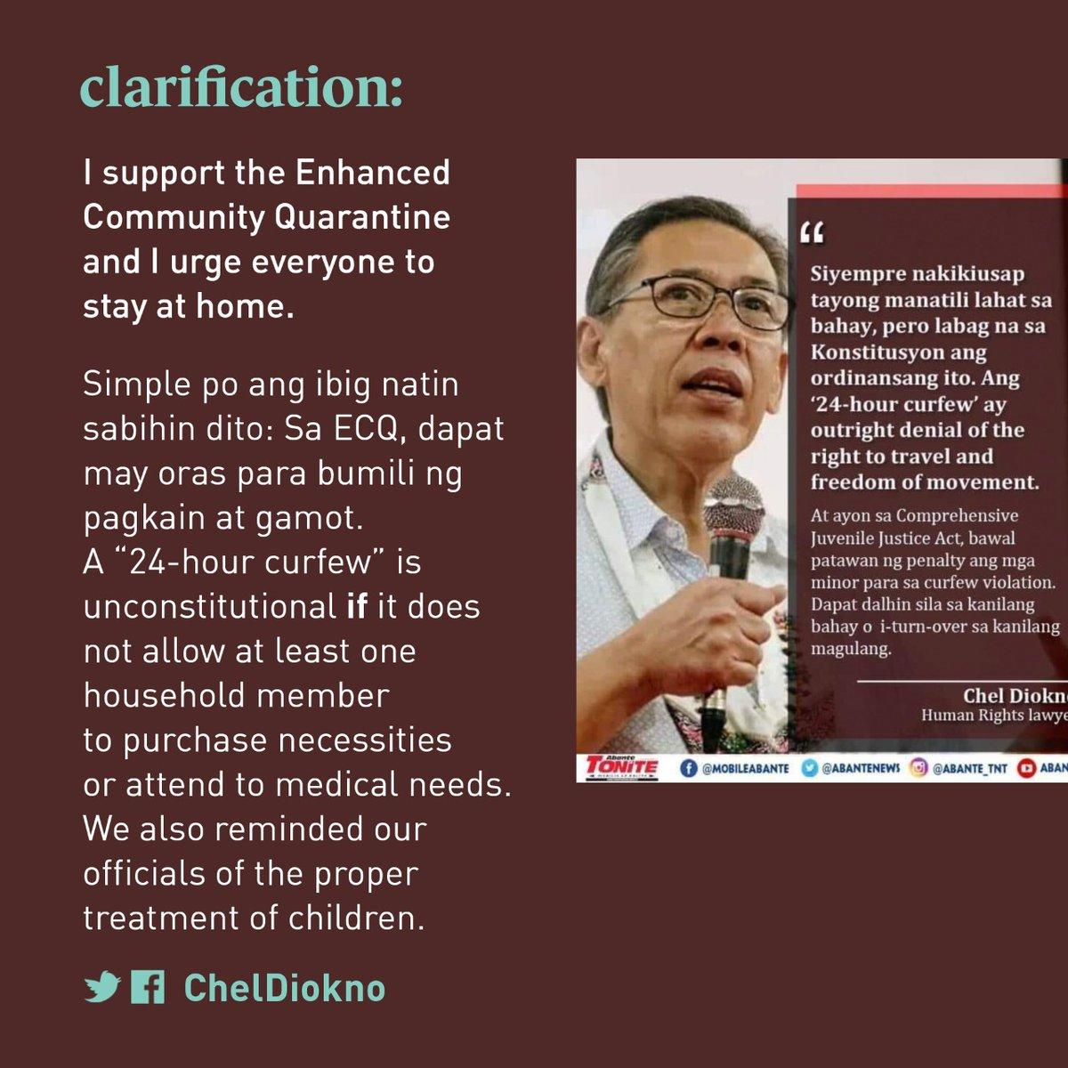 Iklaro ko lang po itong umiikot. I support the Enhanced Community Quarantine and I urge everyone to stay at home.