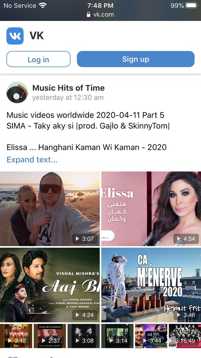 #هنغني_كمان_وكمان  للفنانة اللبنانية #اليسا  تدخل قائمة الاغاني المصورة في روسيا  على موقع vk الروسي للموسيقى  @elissakh