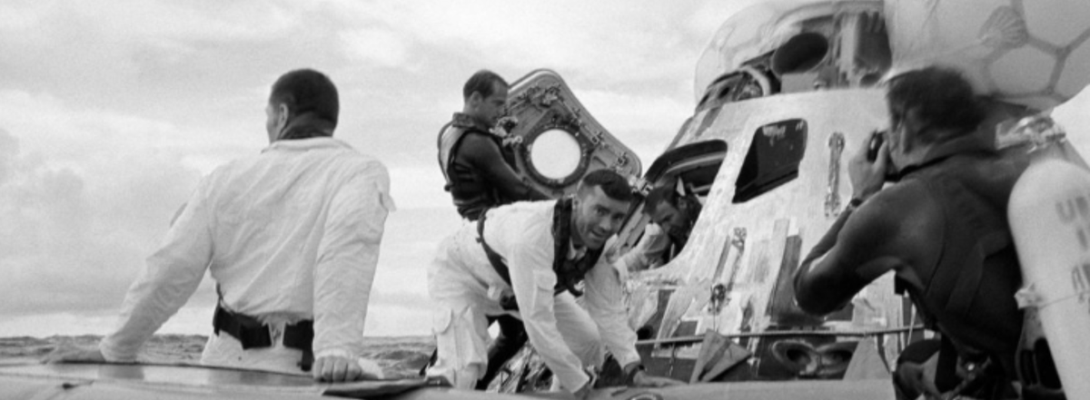 50 years ago. 1.  Send men to the moon. 2.  Return them safely to the Earth. Not easy. Apollo 13. Hanx