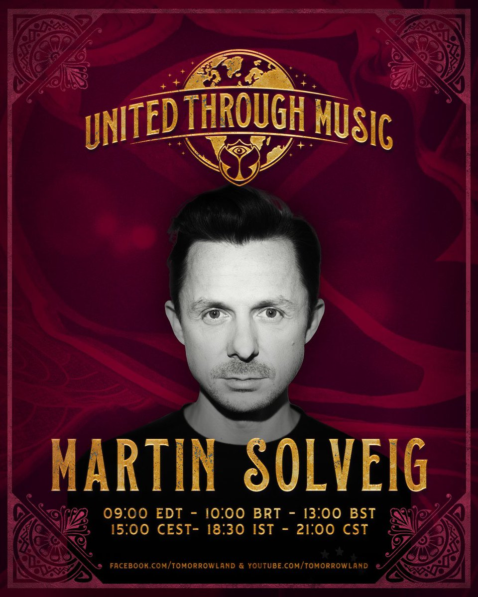 "Bonjour everyone! I'm joining @tomorrowland UNITED THROUGH MUSIC livestream for a crazy 90"" mix 🕺🏼 It's tomorrow @ 3PM CEST, be there or be square!   #Tomorrowland #SaveTheSummer"