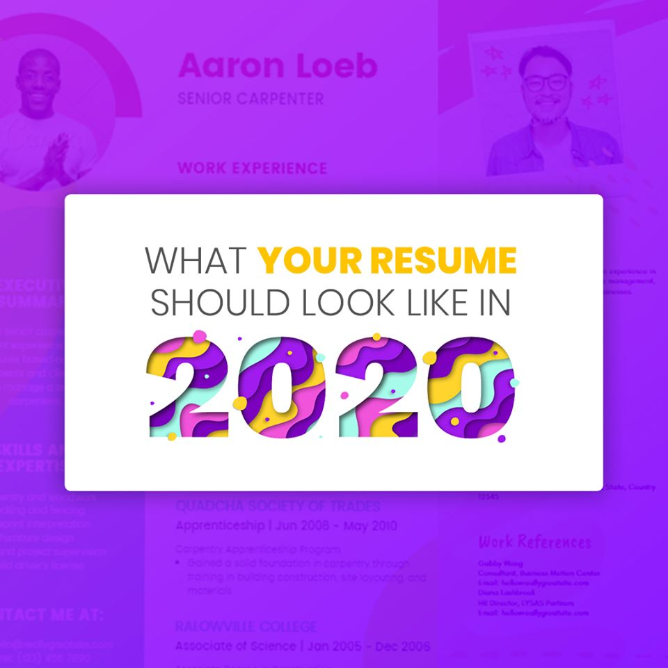 Templatemonster On Twitter Resume Trends In 2020 Read The