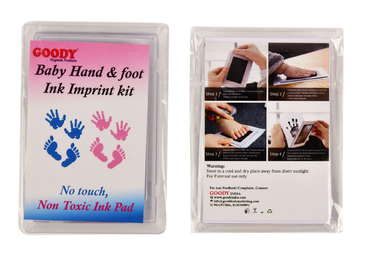 Baby Hand & Foot Imprint Kit made with a purpose to store the beautiful memories of your kids with a non-toxic formula which doesn't harm the baby skin and the baby's hand doesn't need to be soaked in the ink.  Order Now: https://t.co/57CxlFkpQt https://t.co/h375PJq6ZR