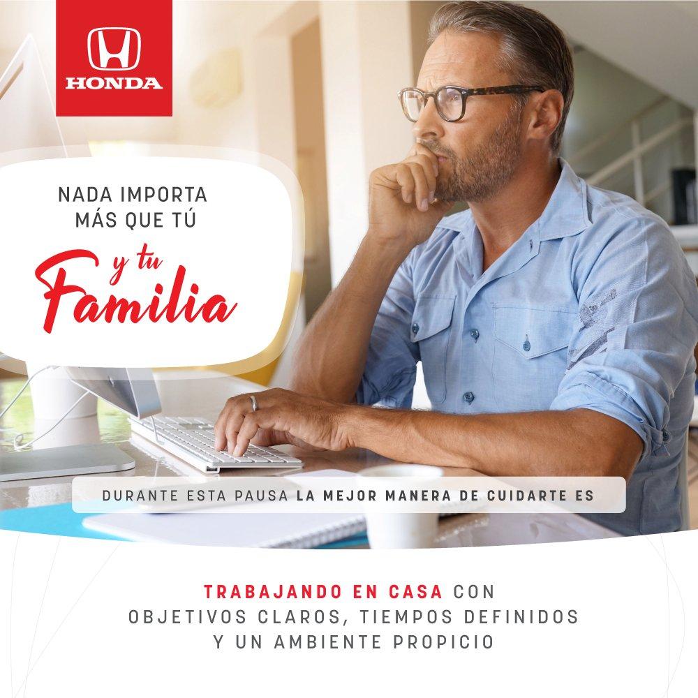 Trabajar desde casa puede ser muy positivo, si sabes cómo organizarte 🏠 por eso en Honda queremos darte unos tips que te ayudarán durante estos días en los que todos debemos estar en casa.  Desliza y conócelas >>  #YoMeQuedoEnCasa https://t.co/fiqlmApNz8