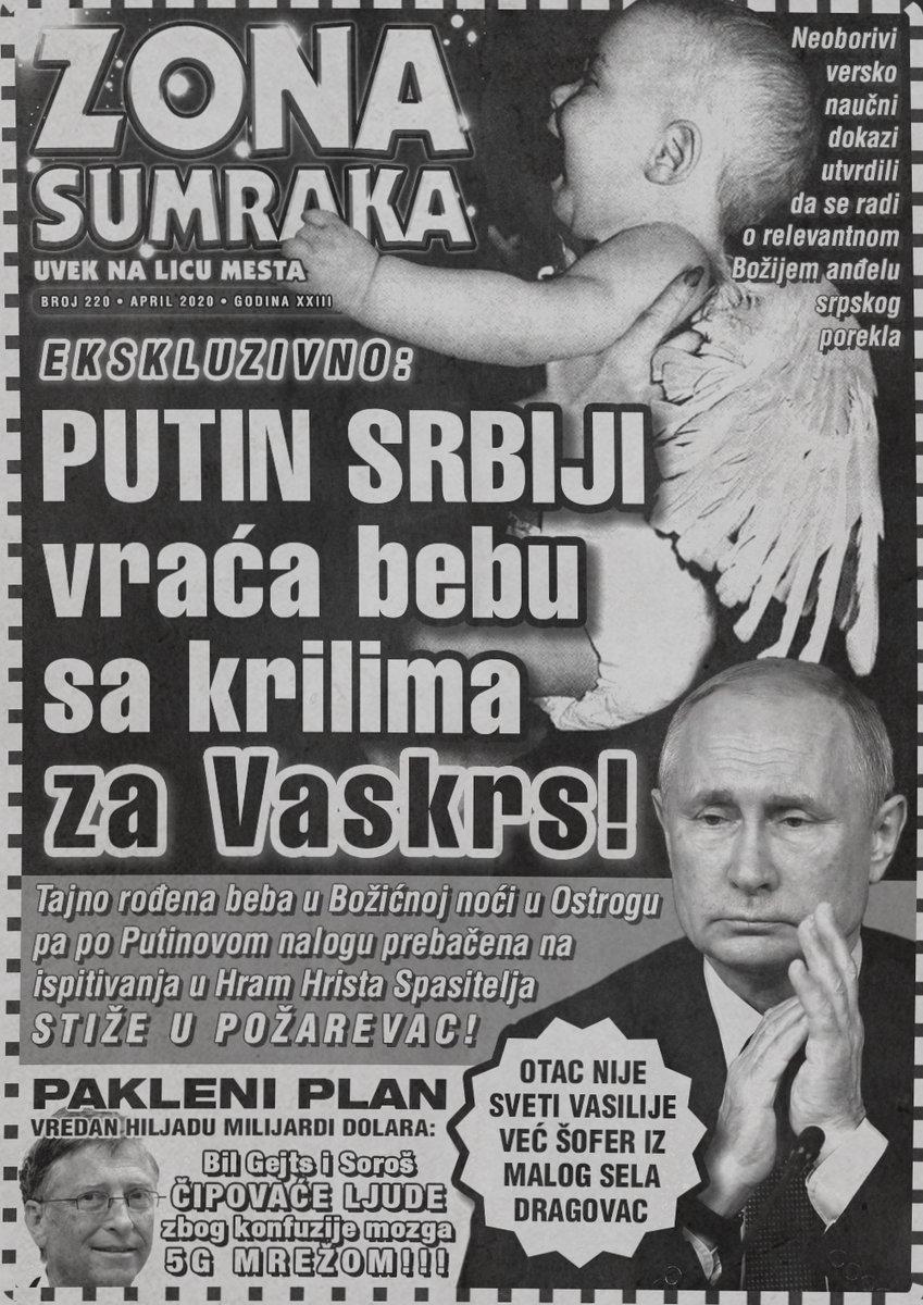 Vladimir Putin Srbiji vraća bebu sa krilima za Vaskrs