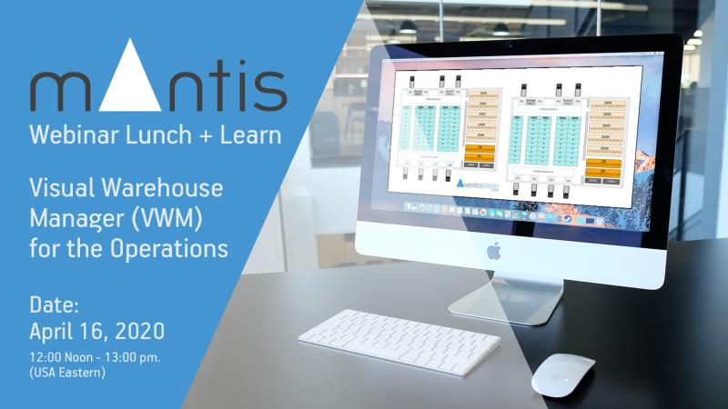 """We invite you to a Lunch and Learn webinar you will see how Mantis Visual Warehouse Manager provides warehouse """"air traffic control"""" for space optimization and lower TCO. https://t.co/zSJPzlzfRD #WMS #optimization #logisticsvisionsuite https://t.co/rk8FUivjSv"""